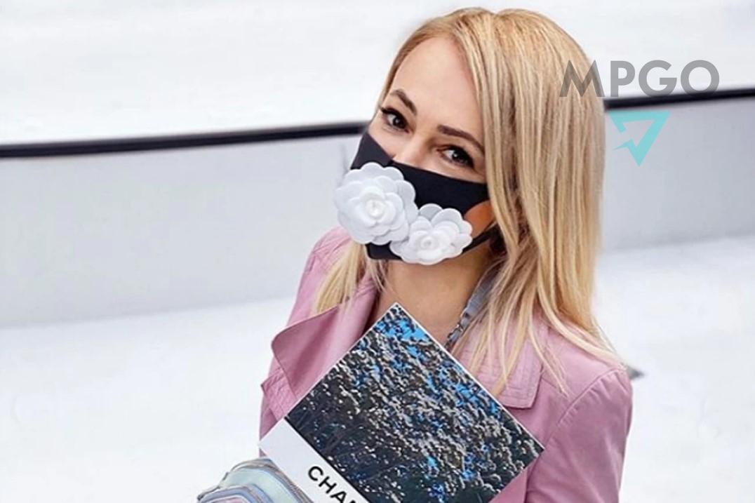 Яна Рудковская в маске